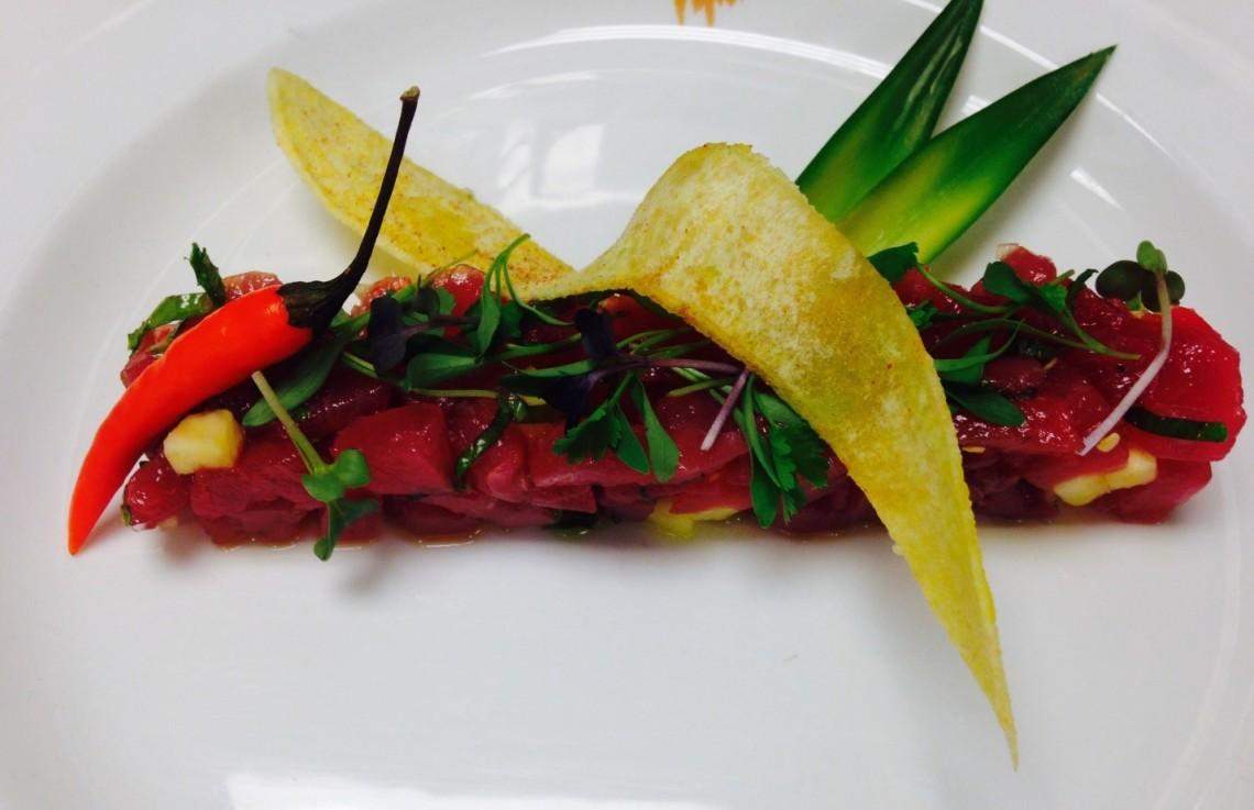 Yellow Fin Tuna Tartar at Golf Grill