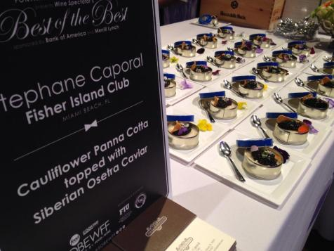 "Fisher Island Club Executive Chef Stephane Caporal participated in last Friday's ""Best of the Best"" event at the Fontainebleau Miami Beach during the South Beach Wine & Food Festival"