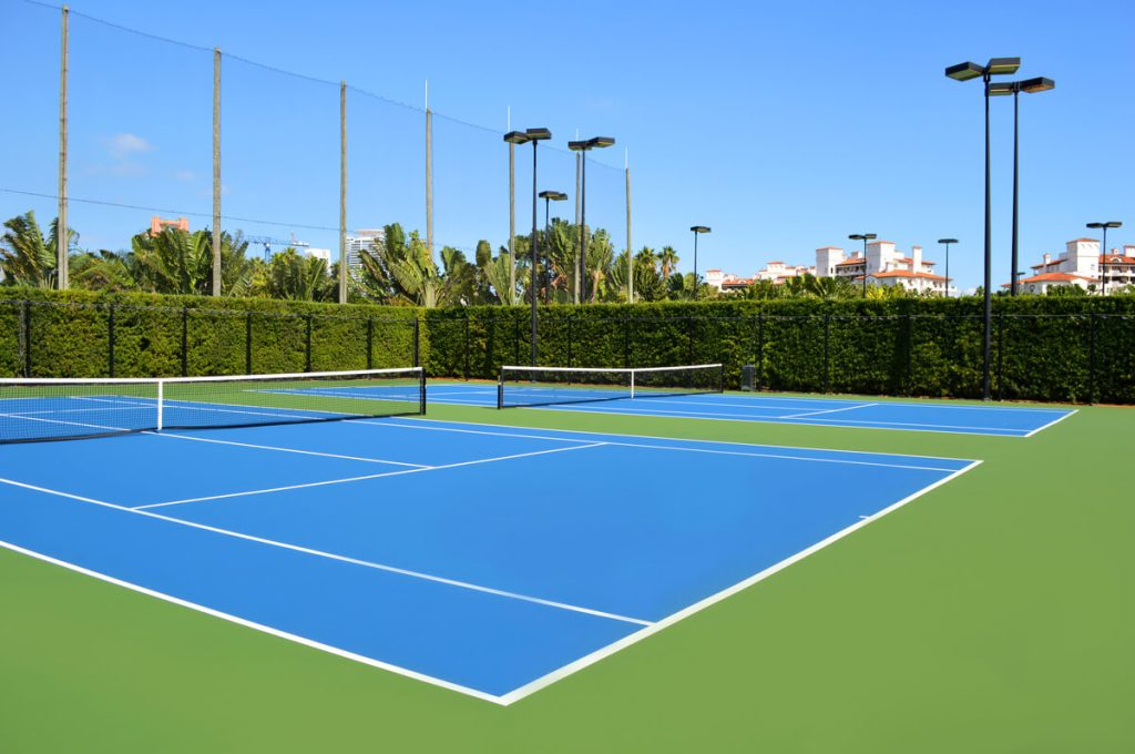 Fisher Island tennis courts