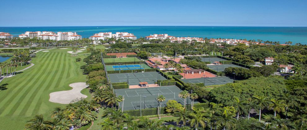Fisher Island club aerial_tennis courts